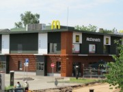 The former canteen reconstruction to a fast food restaurant McDonald's, 18 Novembra street 42, Daugavpils